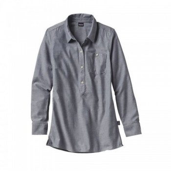 Camisa Featherstone Tunic Gris de Mujer Marca Patagonia