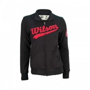 Poleron Fleece Full Zip Color Gris Marca wilson con descuento